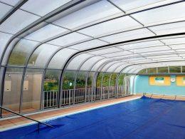 Posuvné prekrytie vonkajšieho bazéna